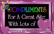 Compliments For A Great Site Award